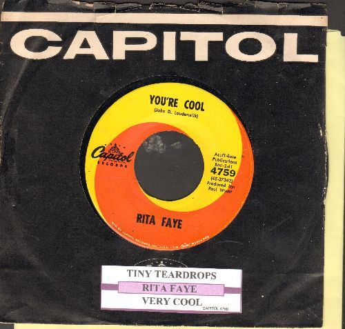 Faye, Rita - Tiny Teardrops/Very Cool (with juke box label and Capitol company sleeve) - EX8/ - 45 rpm Records