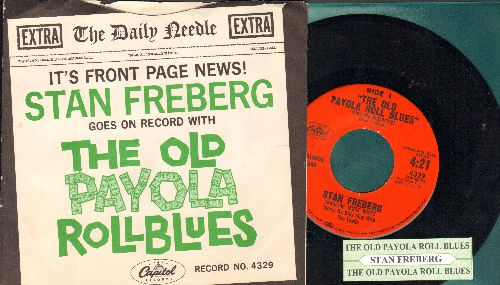 Freberg, Stan - The Old Payola Roll Blues (Parts 1 + 2) (DJ avance pressing with juke box label and RARE picture sleeve) - NM9/NM9 - 45 rpm Records
