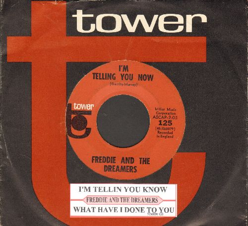 Freddie & The Dreamers - I'm Telling You Now/What Have I Done To You (with juke box label and RARE Tower company sleeve) - EX8/ - 45 rpm Records