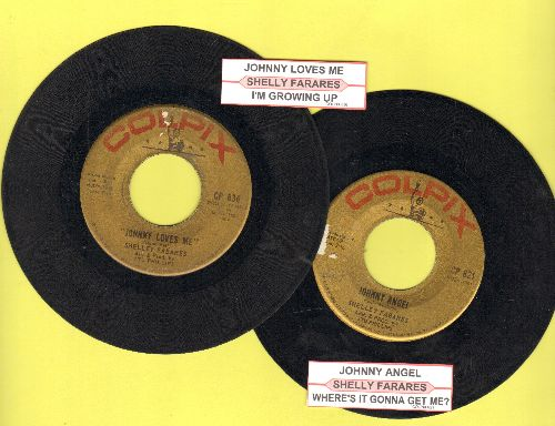 Fabares, Shelley - 2 for 1 Special: Johnny Angel/Johnny Loves Me (2 vintage first issue 45rpm records with juke box labels for the price of 1! - Shipped in plain white paper sleeves. - VG7/ - 45 rpm Records