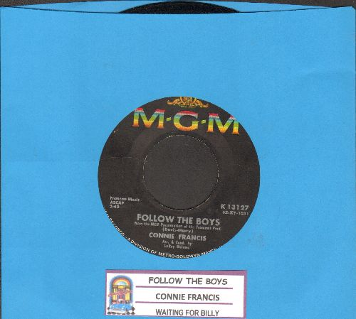 Francis, Connie - Follow The Boys/Waiting For Billy (with juke box label) - VG7/ - 45 rpm Records