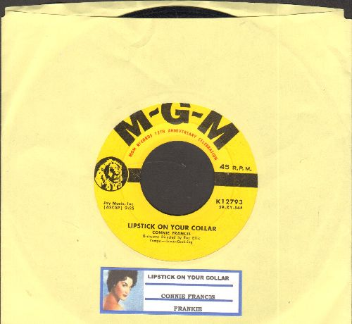 Francis, Connie - Lipstick On Your Collar/Frankie (yellow label with - MGM Records 12th Anniversity Celebration- under logo) (with juke box label) - VG7/ - 45 rpm Records