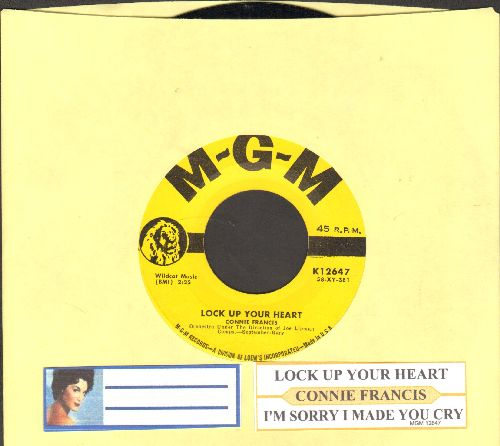 Francis, Connie - Lock Up Your Heart/I'm Sorry I Made You Cry - NM9/ - 45 rpm Records