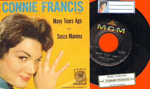 Francis, Connie - Many Tears Ago/Senza Mamma (with juke box label and picture sleeve) - NM9/EX8 - 45 rpm Records