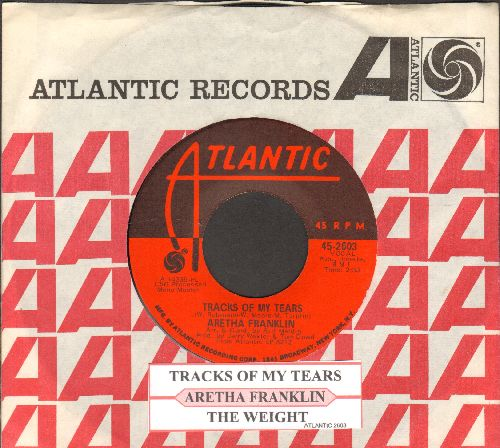 Franklin, Aretha - Tracks Of My Tears/The Weight (with juke box label and Atlantic company sleeve) - NM9/ - 45 rpm Records