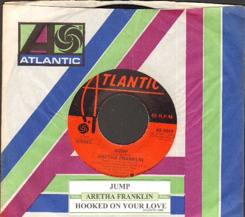 Franklin, Aretha - Jump/Hooked On Your Love (with company sleeve and juke box label) - NM9/ - 45 rpm Records
