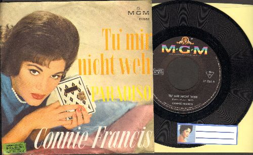 Francis, Connie - Tu mir nicht weh/Paradiso (German Pressing with picture sleeve, sung in German) - NM9/EX8 - 45 rpm Records