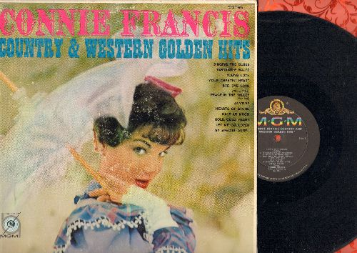 Francis, Connie - Country & Western Golden Hits: Singing The Blues, Young Love, Tennessee Waltz, Half As Much, Bye Bye Love, My Special Angel, Your Cheatin' Heart (Vinyl MONO LP record, alternate EARLY cover) - EX8/VG7 - LP Records