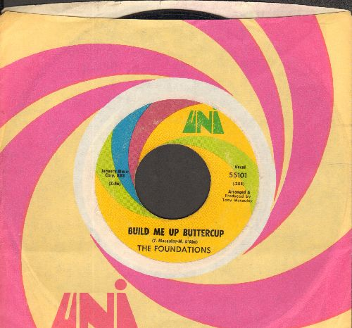 Foundations - Build Me Uo Buttercup/New Direction (with Uni company sleeve) - VG7/ - 45 rpm Records