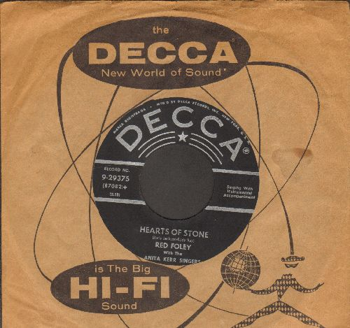 Foley, Red - Hearts Of Stone/Never (with vintage Decca company sleeve) - EX8/ - 45 rpm Records