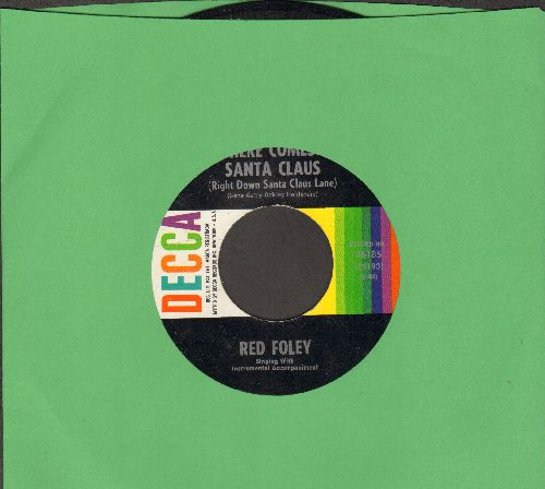 Foley, Red - Here Comes Santa Claus/Our Christmas Waltz - EX8/ - 45 rpm Records