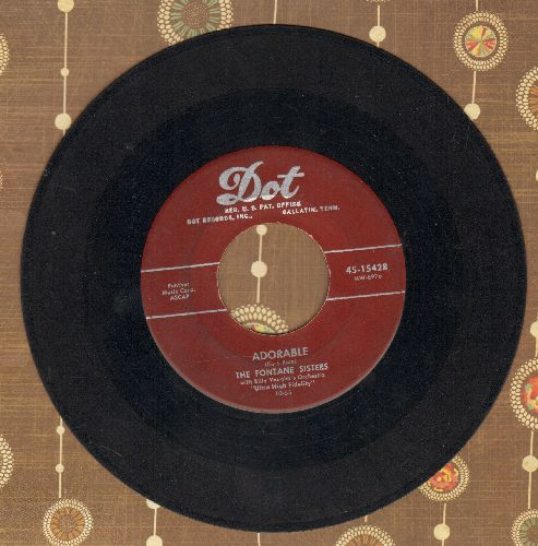 Fontane Sisters - Adorable/Daddy-0  - VG7/ - 45 rpm Records