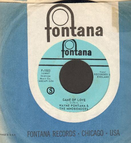 Fontana, Wayne & The Mindbenders - Game Of Love/One More Time (with vintage Fontana company sleeve) - NM9/ - 45 rpm Records