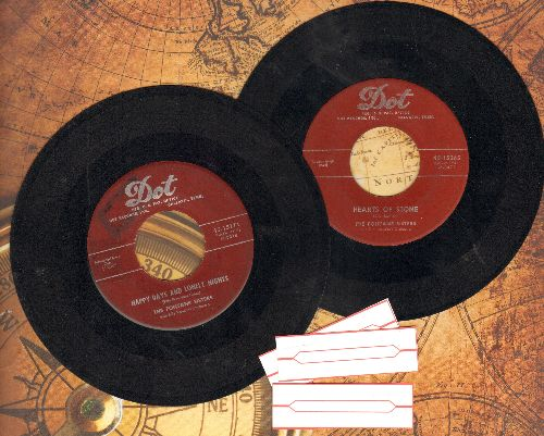 Fontane Sisters - 2 for 1 Special: Hearts Of Stone/Happy Days And Lonely Nights (2 vintage first issue 45rpm records for the price of 1! - Shipped in plain paper sleeves with 3 blank juke box labels) - VG7/ - 45 rpm Records