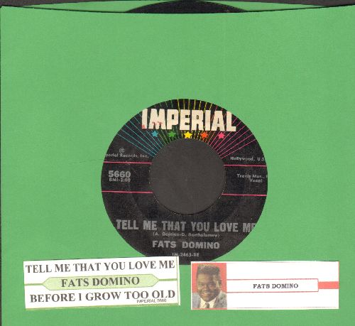 Domino, Fats - Tell Me That You Love Me/Before I Grow Too Old (with juke box label) - EX8/ - 45 rpm Records