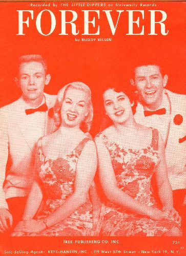Little Dippers - Forever - Vintage SHEET MUSIC for the song made popular by The Little Dippers - NM9/ - Sheet Music