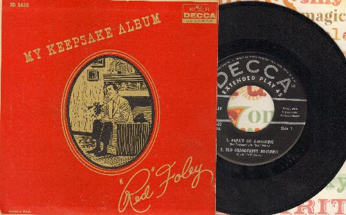 Foley, Red - My Keepsake Album: Papa'd Go A-Walking/Old Grandpappy Do-Funny/'Ceptin' Old Shorty/Times Have Changed, Ain't They (Vinyl EP record with picture cover) - NM9/EX8 - 45 rpm Records