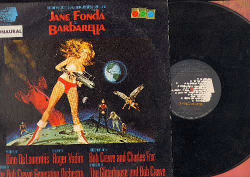 Barbarella - Barbarella - Original Motion Picture Soundtrack featuring Title Song by Bob Crewe Generation (vinyl LP record, water damage on back cover) - EX8/G5 - LP Records