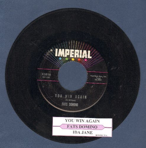 Domino, Fats - Ida Jane/You Win Again (with juke box label) - NM9/ - 45 rpm Records