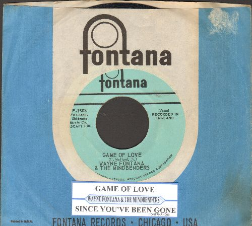 Fontana, Wayne & The Mindbenders - Game Of Love/One More Time (with juke box label and vintage Fontana company sleeve) - EX8/ - 45 rpm Records