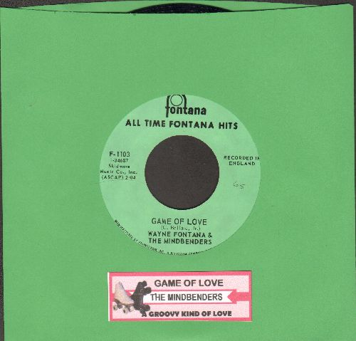 Mindbenders - Game Of Love/A Groovy Kind Of Love (double-hit re-issue with juke box label) - NM9/ - 45 rpm Records