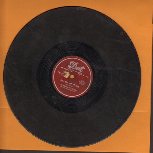 Fontane Sisters - Hearts Of Stone/Bless Your Heart (10 inch 78 rpm record) - VG7/ - 78 rpm