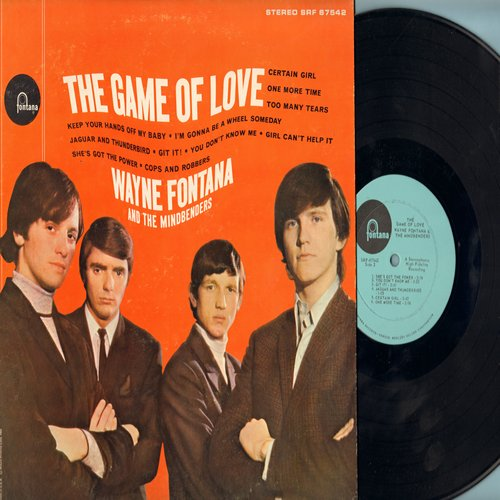 Fontana, Wayne & The Mindbenders - The Game Of Love: Keep Your Hands Off My Baby, Too Many Tears, Git It!, She's Got The Power (vinyl STEREO LP record) - NM9/EX8 - LP Records