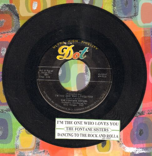 Fontane Sisters - (Remember Me) I'm The One Who Loves You/Dancing To The Rock And Rolla (with juke box label) - EX8/ - 45 rpm Records