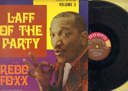 Foxx, Redd - Laff Of The Party - Volume 3: More stag party humor by the master! (Vinyl MONO LP record, RARE cover with Redd Foxx's face!) - NM9/NM9 - LP Records