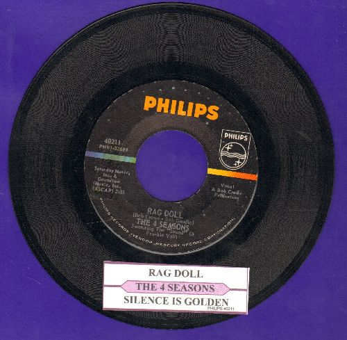 Four Seasons - Rag Doll/Silence Is Golden (with juke box label) - NM9/ - 45 rpm Records