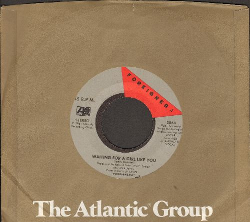 Foreigner - Waiting For A Girl Like You/I'm Gonna Win (with Atlantic company sleeve) - EX8/ - 45 rpm Records