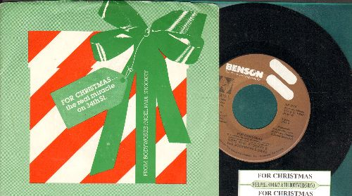Stookey, Noel Paul & The Bodyworks Bank - For Christmas (double-A-sided DJ advance pressing with juke box label and picture sleeve) - NM9/NM9 - 45 rpm Records