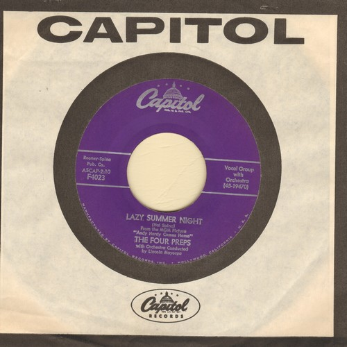 Four Preps - Lazy Summer Night/Summertime Lies (with Capitol company sleeve) - NM9/ - 45 rpm Records