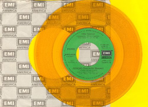Fools - Psycho Chicken (Beeped)/Psycho Chicken (Clucked) (Yellow Vinyl PROMO with EMI company sleeve) - NM9/ - 45 rpm Records