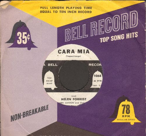 Forrest, Helen - Cara Mia/It Worries Me (with Bell company sleeve) - EX8/ - 45 rpm Records