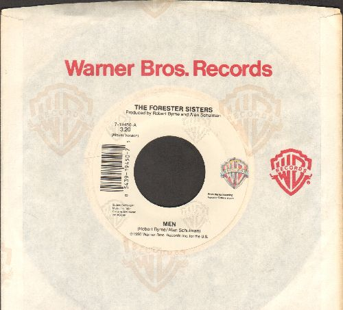 Forester Sisters - Men/Just In Case (with Warner Brothers company sleeve) - NM9/ - 45 rpm Records