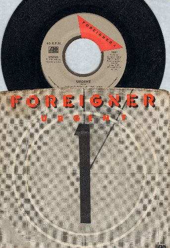 Foreigner - Urgent/Girl On The Moon (with picture sleeve) - EX8/EX8 - 45 rpm Records