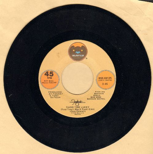Foghat - Thurd Time Lucky/Love In Motion - EX8/ - 45 rpm Records