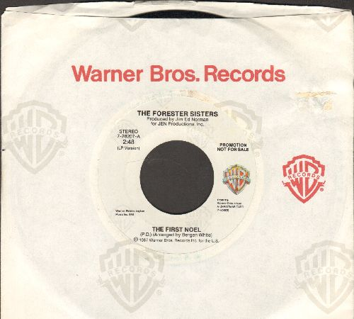 Forester Sisters - The First Noel/This Old White Doorway DJ advance pressing with Warner Brothers company sleeve) - NM9/ - 45 rpm Records