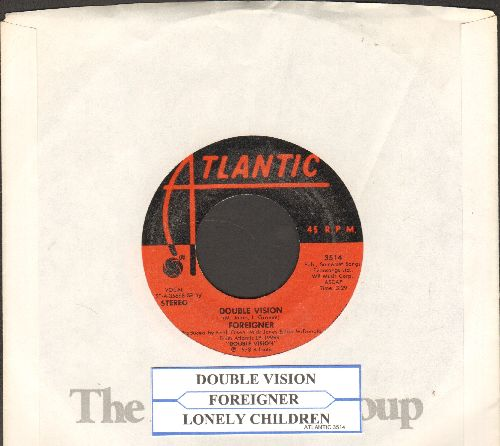 Foreigner - Double Vison/Lonley Children (with juke box label and Atlantic company sleeve) - EX8/ - 45 rpm Records