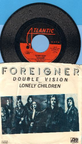 Foreigner - Double Vision/Lonely Children (with picture sleeve) - NM9/VG7 - 45 rpm Records