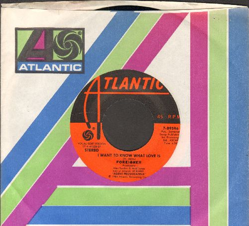 Foreigner - I Want To Know What Love Is/Sweet Thunder (with Atlantic company sleeve) - NM9/ - 45 rpm Records