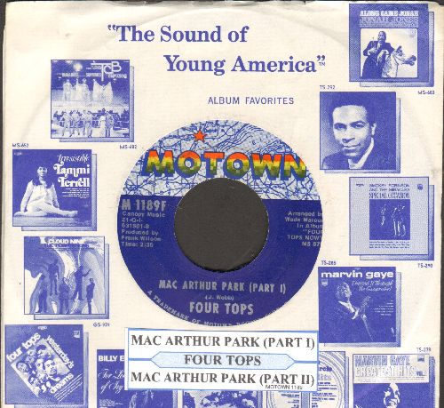 Four Tops - Mac Arthur Park (Parts 1 + 2) (with juke box label and Motown company sleeve) - NM9/ - 45 rpm Records