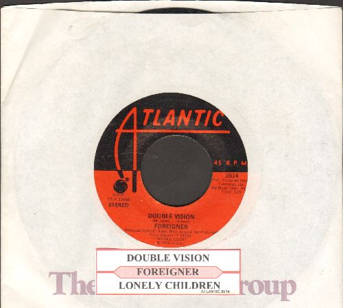 Foreigner - Double Vision/Lonely Children (with juke box label and company sleeve) - EX8/ - 45 rpm Records