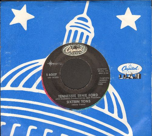Ford, Tennessee Ernie - Sixteen Tons/Mule Train (double-hit re-issue with company sleeve) - NM9/ - 45 rpm Records