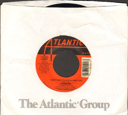 Foreigner - I Don't Want To Live Wihout YouFace To Face (with Atlantic company sleeve) - EX8/ - 45 rpm Records