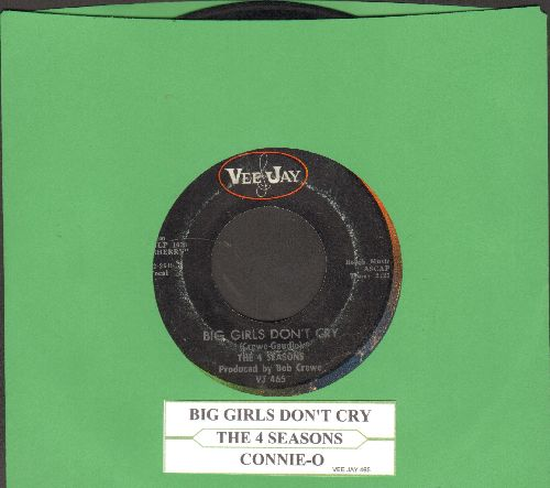 Four Seasons - Big Girls Don't Cry/Connie-O (with juke box label) - VG7/ - 45 rpm Records