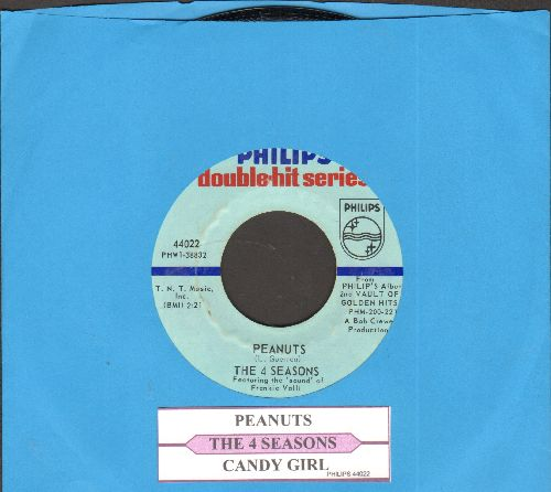 Four Seasons - Peanuts/Candy Girl (double-hit re-issue with juke box label) - NM9/ - 45 rpm Records