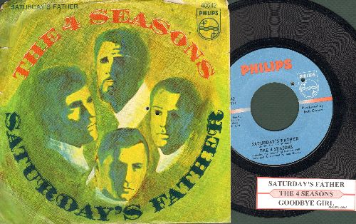 Four Seasons - Saturday's Father/Good-Bye Girl (with juke box label and picture sleeve)(bb) - NM9/VG7 - 45 rpm Records