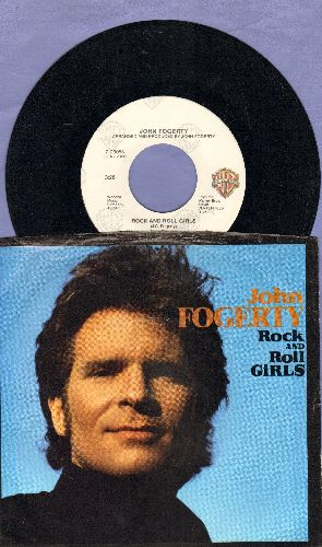 Fogerty, John - Rock And Roll Girls/Centerfield (with picture sleeve) - EX8/EX8 - 45 rpm Records